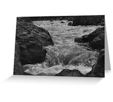 South Yuba River, charging (shot as B&W) Greeting Card