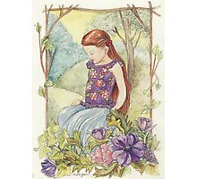 Girl in the wood Photographic Print