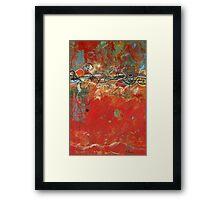 Red Meander Framed Print