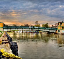 King George Lift Bridge - Port Stanley, Ontario HDR by Mike Whitman