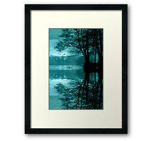 Cyan Framed Print