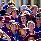 Young marchers on Anzac Day by Alex Howen