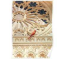 """The Cardinal"" Watercolor Poster"