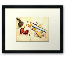 Still Life With Strawberry Framed Print