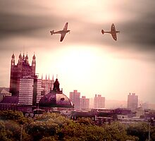spitfires flypass over london  by kimbob1
