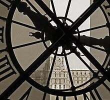 From behind the clock at the Musee D'Orsay by Andy Duffus