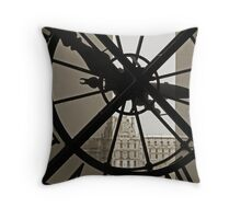 From behind the clock at the Musee D'Orsay Throw Pillow