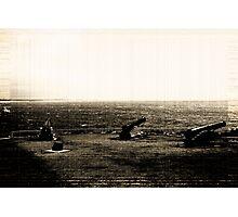 Big Guns In Sepia Photographic Print