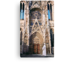 """Pilgrimage"" Chartres Cathedral Watercolor Canvas Print"