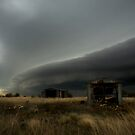 Shelf Cloud Approaching Caroline Springs, Victoria Australia by Greg  Sorenson