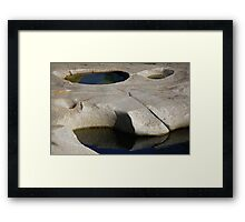 Glacial Potholes Framed Print