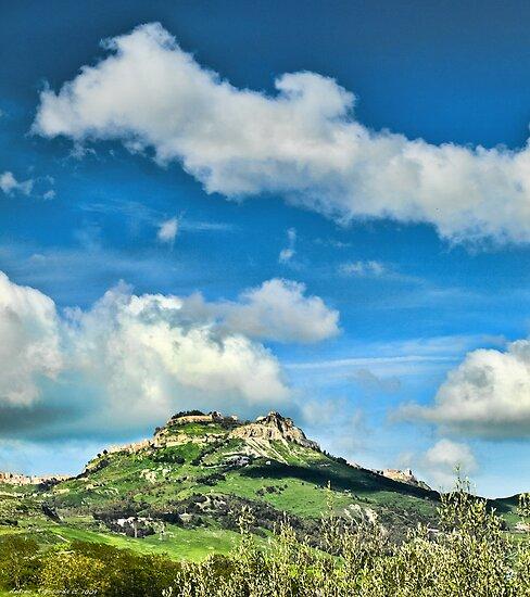 The city of Enna, Sicily by Andrea Rapisarda