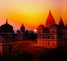 Cenotaphs of Orchha. India. by vadim19