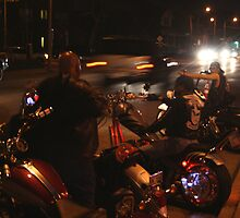 Harleys and choppers... by Danny  Cross