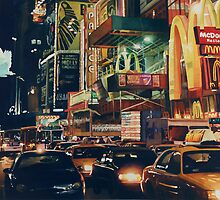 """Crosstown Traffic"" New York Watercolor by Paul Jackson"