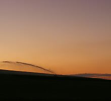 sunset magic over irrigated paddocks  by gaylene