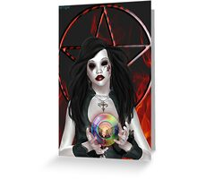 The Dark One, A vampire witch Greeting Card