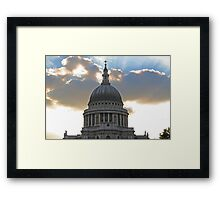 The power and the glory II Framed Print
