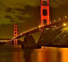 Golden Gate Night Lights by photosbyflood