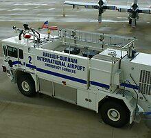Crash Truck, Raleigh-Durham Inter. Airport, N,C. by Berk Nash