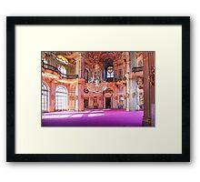Stupingi Hunting Villa - Central Salone - Torino - Italia Framed Print