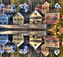 Crayola Cottages by Bruce Taylor