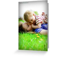 She Holds Her Sunshine Close To Her Heart Greeting Card