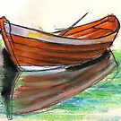 Swedish Dorry Fishing Boat  by Woodie