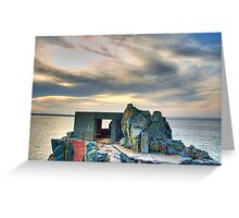 Bunker on a Headland - Alderney Greeting Card