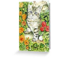 Caught in the Flowers Greeting Card