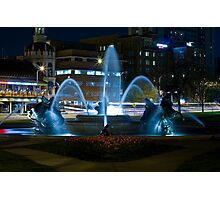Plaza Fountain Photographic Print