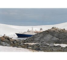 Huh, another ship load of tourists!! Photographic Print