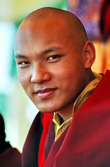 Ogyen Trinley Dorje. Sidphur, India 2004 by tim buckley | bodhiimages