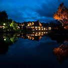 Cradle Mountain Lodge at night by Geoffrey Chang