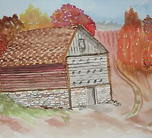 North Carolina Pole Tobacco Barn  by Warren  Thompson