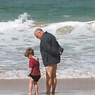 Poppy and Kane at the Beach by Lorna Gerard