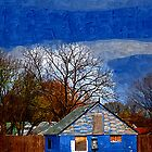 Deserted Blue House by Richard Dooley