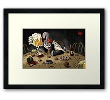 Yo Ho Ho and a bottle of *Hick* Framed Print
