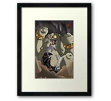 Waking up the cave troll Framed Print