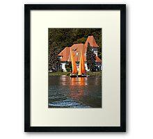 Worther See - Orange Sails Framed Print