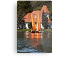 Worther See - Orange Sails Metal Print