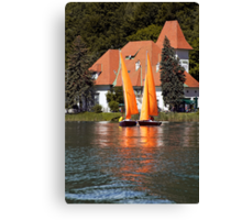 Worther See - Orange Sails Canvas Print