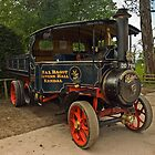Traction Engine at Levens Hall by Steve  Liptrot
