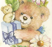 Teddy Bear Gift by morgansartworld