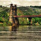 Wheeling Suspension Bridge WV by Kate Adams