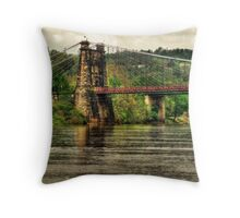 Wheeling Suspension Bridge WV Throw Pillow