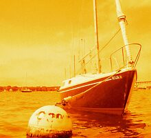 Golden Sailboat by rtographsbyrolf