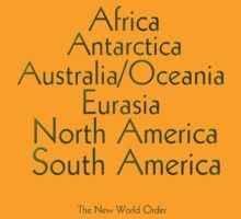 The New World Order of Continents T Shirt by Lisa  Weber