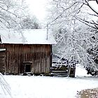 Snowy Barn by cpad04