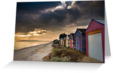 Beach Huts by Alistair Wilson
